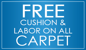 Free cushion & labor on all carpet at Abbey Carpet & Floor in Bentonville!