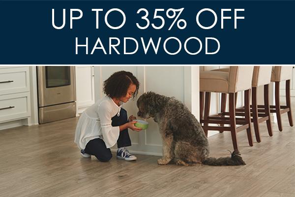 Up to 35% OFF Hardwood flooring at Abbey Carpet & Floor in Bentonville!